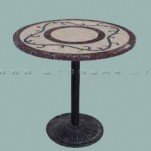 STONERA stalas iš marmuro mozaikos